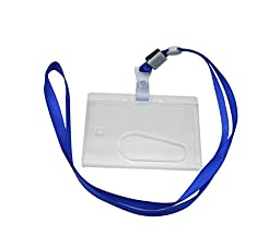 Ailisi Horizontal Card Holder Neck Strap Lanyard Deep Blue Strap Belt Pack of 15