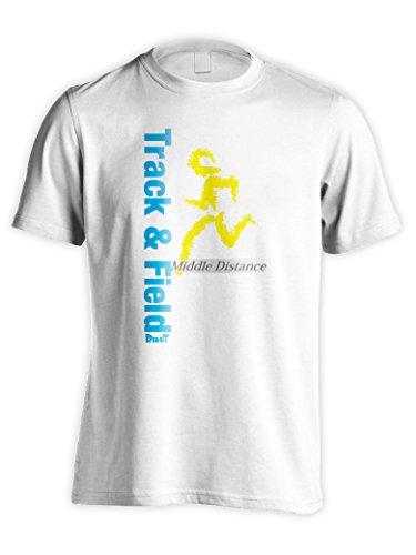 (リクティ) RikuT Track & Field 中距離編 陸上Tシャツ L ホワイト