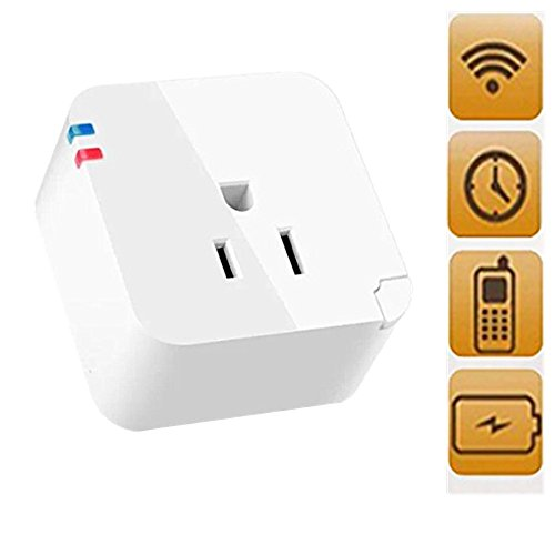 YW (TM) New Wireless US WiFi Phone Remote Repeater Smart AC Plug Power Switch Socket ,Control Your Electronics From Anywhere with the Home Automation App for Smartphones and Tablets with One Piece Random Color Stlye Dress up Sticker Gift
