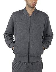 Fahrenheit Men's Fleece Sweat Shirt (8903942223921_Grey_Large)