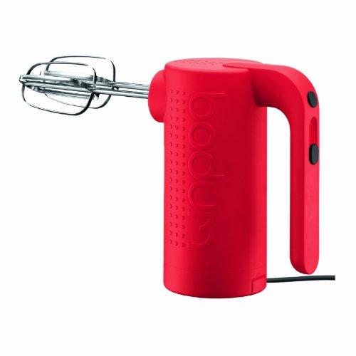 Bodum Bistro Electric 5 Speed Hand Mixer, Red (Bodum Electric Hand Mixer compare prices)