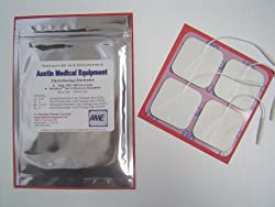 Austin Medical Equipment 24 New Quality Sealed Reusable Electrodes 2&quot; x 2&quot; with Pro-Stick Adhesive