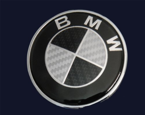 bmw real black carbon fiber emblem badge 73mm freud 97. Black Bedroom Furniture Sets. Home Design Ideas
