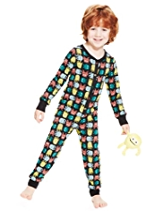 Pure Cotton Soft & Cosy Monster Onesie with Toy