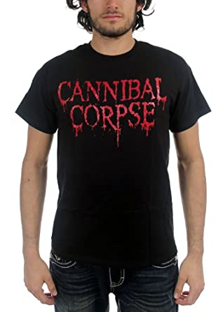Cannibal Corpse - Logo Adult T-Shirt, X-Large, Black
