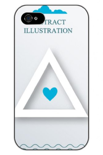Sprawl New Fashion Design Hard Skin Case Cover Shell For Mobilephone Apple Iphone 5 5S--Blue Triangle Love Heart