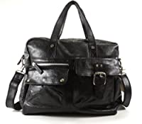 Fossil Men's Decker Leather Work Bag (Black)