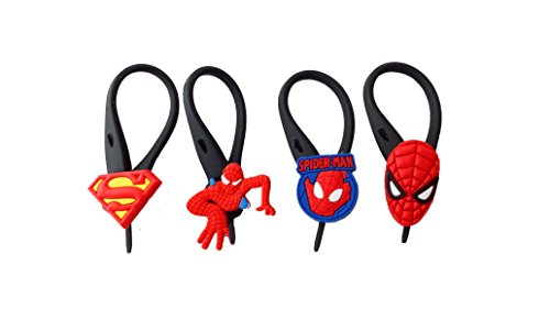 AVIRGO 4 pcs Soft Zipper Pull Charms for Backpack Bag Pendant Jacket Set # 16-3