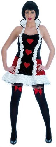 Ladies Sexy Queen Of Hearts Fancy Dress Costume Size 20-22 XX-Large