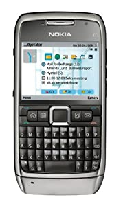 Nokia E71 Unlocked GSM Phone with Symbian 9.2 OS, 5-Way Scroll Key, QWERTY Keyboard, 3.2MP Camera, Video, GPS, Wi-Fi, Bluetooth, FM Radio, MP3/MP4 Player and microSD Slot - Gray