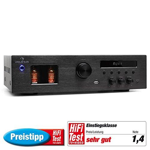 Auna-Tube-65-Stereo-HiFi-Rhrenverstrker-2-x-60W-RMS-Rhren-Sichtfenster-MP3-USB-Eingang-UKW-Radiotuner