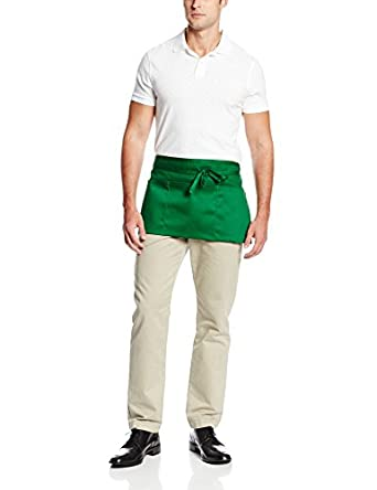 "Chef Revival 605WAFH Poly Cotton ""Front of the House"" Waist Apron, 23 by 12-Inch, Kelly Green"