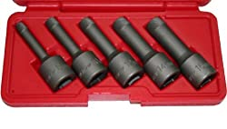 "T & E Tools 5Pc. 1/2"" Drive Impact Wedge Proof Extractor Set"