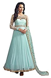Neelkanth Women's Georgette Semi Stitched Dress Material (FB-6005_Multi-Coloured_Free Size)