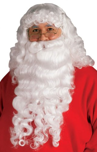 Rubie's Santa Beard and Wig Set, White, One Size