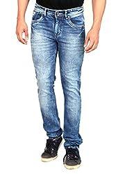 Gabon Light Blue Cotton Lycra Jeans for Men
