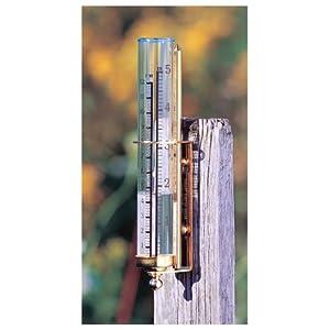 Conant Custom Brass Model VRG-1 Vermont Natural Brass Rain Gauge