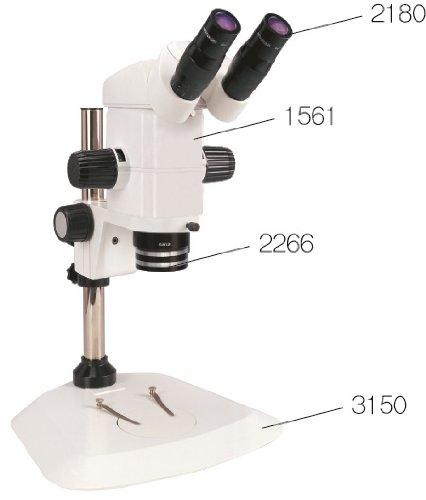 Sm Precision Stereo Zoom Binocular Microscope On Pole Stand