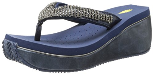 Volatile Women'S Fairydust Wedge Sandal,Navy,8 B Us front-993491