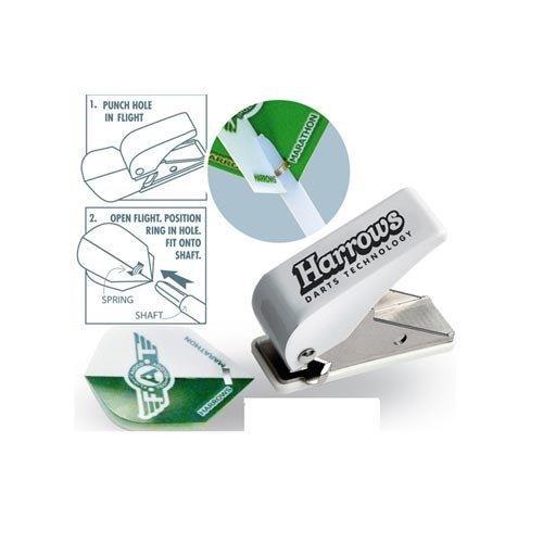 Harrows - Perforatore di alette di freccette, 6 cm, bianco/argento