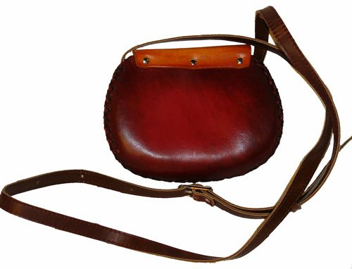 A Tiger Designs, Small Shoulder/cross-body Bag. Hand-made By Genuine Cowhide Leather. Unique.