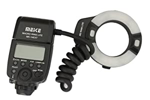 Meike® MK-14EXT Macro TTL ring flash for Canon E-TTL TTL with LED AF assist lamp