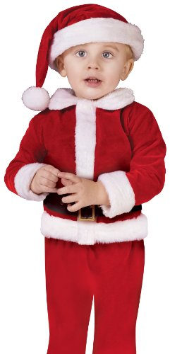 Fun World Costumes Baby Boy's Santa Velour Suit Toddler Costume