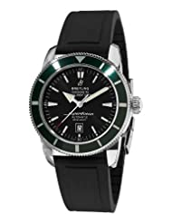Breitling Men's A17320Q5/B868 Aeromarine Superocean Heritage Black Dial and Green Bezel Watch