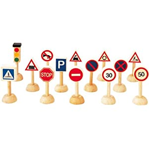 Plan Toys City Series Set Of Traffic Sign and Light