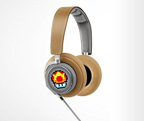 Retro 8-Bit Mega Mushroom Decal From Super Mario Brothers For Bang And Olufsen (Headphones Not Included)