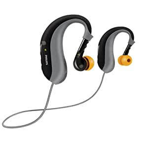 Philips ActionFit SHB6000/28 Bluetooth Stereo Headset (Black/Grey) (Discontinued by Manufacturer)