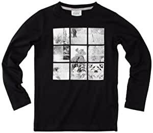 Oxbow Dams T-Shirt manches longues garçon Noir FR : 8 ans (Taille Fabricant : 8A)