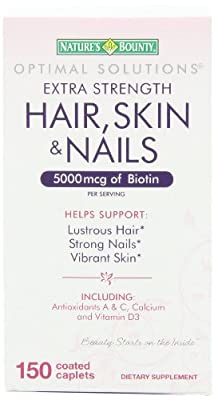 Nature's Bounty Extra Strength Hair Skin Nails, 150 Count