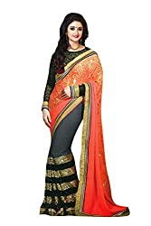 Rudraksh Fashion pure Georgette saree