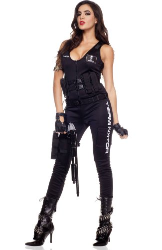 [I'll Be Back Babe Costume - Small/Medium - Dress Size 2-8] (Biker Babe Costume)