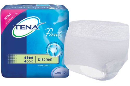 Tena Discreet Odour Control Incontinence Pants Large - 10 Pairs