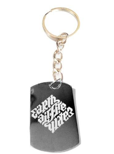 Earth AIR Fire Water Ambigram Da Vinci Logo Symbols – Metal Ring Key Chain Keychain