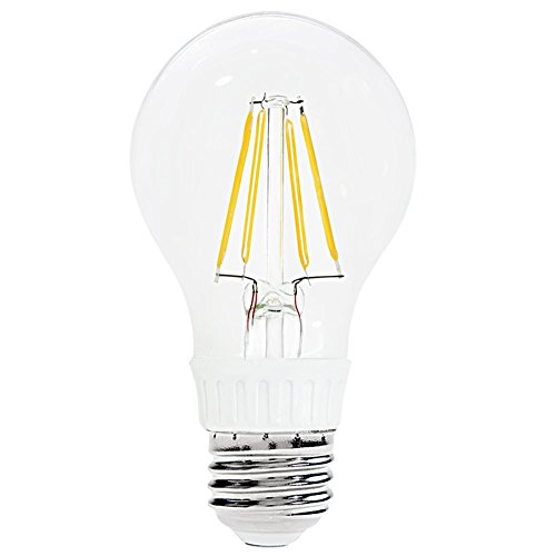 110V 4W A19 Clear Led Filament Bulb - Warm White 50W Equivalent Led Filament Light Bulb - 450Lm E26/E27 Base 360 Degree Beam Angle
