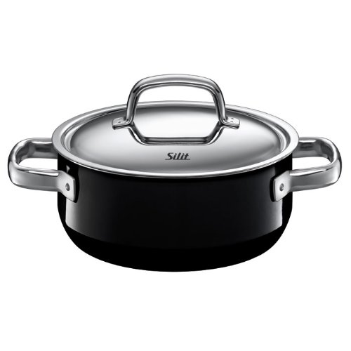 Silit Fresh 4-1/2-Quart Low Casserole with Lid, Piano Black (Silit Sauce compare prices)