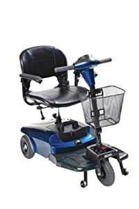 Drive Medical Bobcat 3 Wheel Compact Scooter, Blue
