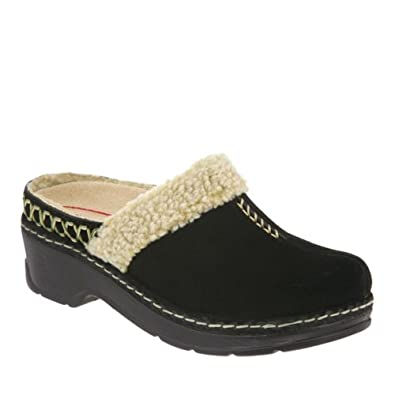 KLOGS Zurich Womens Clogs Shoes Leather Black Nubuck