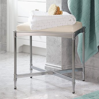 Bathroom Belmont Vanity Stool - Gold - Frontgate