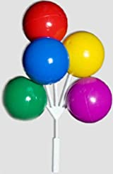 Bright Color Balloon Cluster Cake Pick Set of 3