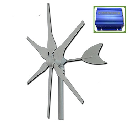 GOWE-generatore, 12 V/24 V, 300w asse orizzontale-Generatore eolico a turbina, start up speed 2 m/s wind mill-controller/ibrida solare.