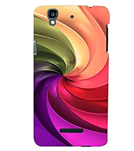 PRINTVISA Abstract Colourful Pattern Case Cover for Yu Yureka Plus