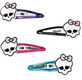 """Monster High Barrettes Birthday Party Favours (4 Pack), Multi Color, 1"""" x 2'."""