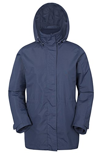Mountain Warehouse Fell Wasserabweisende Damenjacke mantel 3 in 1 rausnehmbarer Fleece-Innenteil Multifunktionsjacke mantel Regenjacke mantel Marineblau DE 38 (EU 40) -