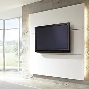 cinewall wand paneel komplettsystem xs 1200 x 1921 mm candela wei inkl fernsehhalterung tv. Black Bedroom Furniture Sets. Home Design Ideas