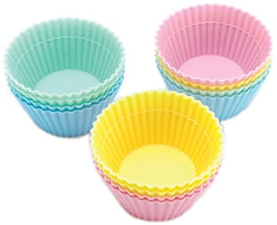 Silicone Baking Cups-Pastel 12/Pkg