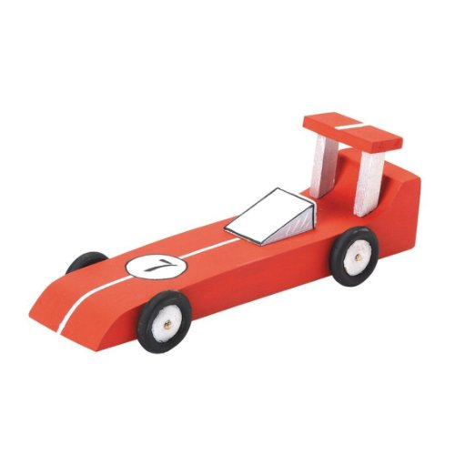Unfinished Race Car Wood Craft Kit (Unfinished When Fully Assembled)